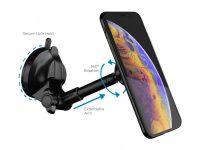 Suport telefon magnetic, brat telescopic si ventuza adeziva – Vetter
